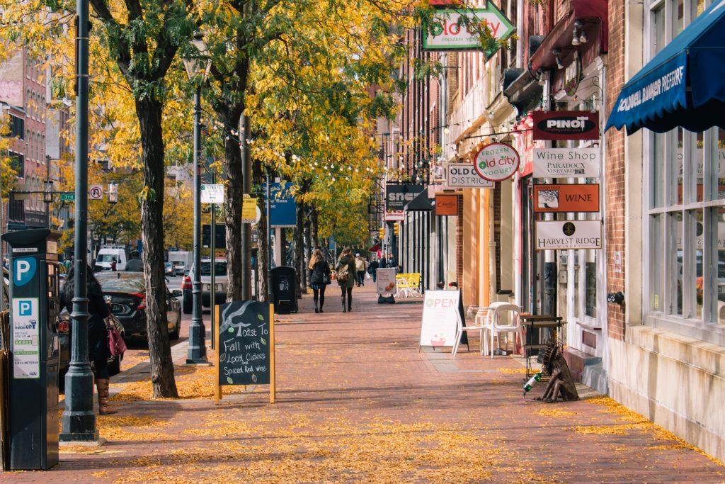 Downtown Clemson, South Carolina.