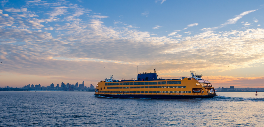 Ferry headed to its next destination.