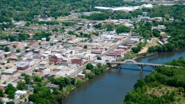 Selma Alabama from overhead